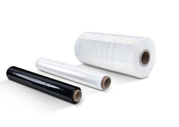 White and black stretch film